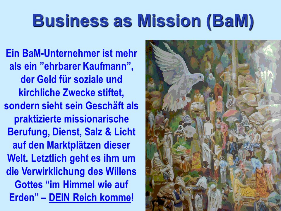 Business as Mission (BaM)