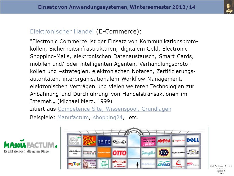 Elektronischer Handel (E-Commerce):