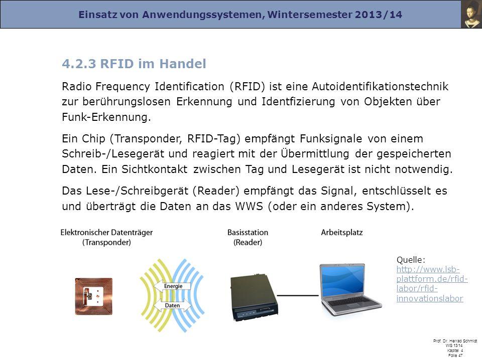 4.2.3 RFID im Handel
