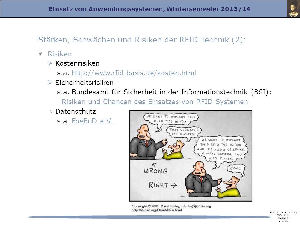 Stärken, Schwächen und Risiken der RFID-Technik (2):
