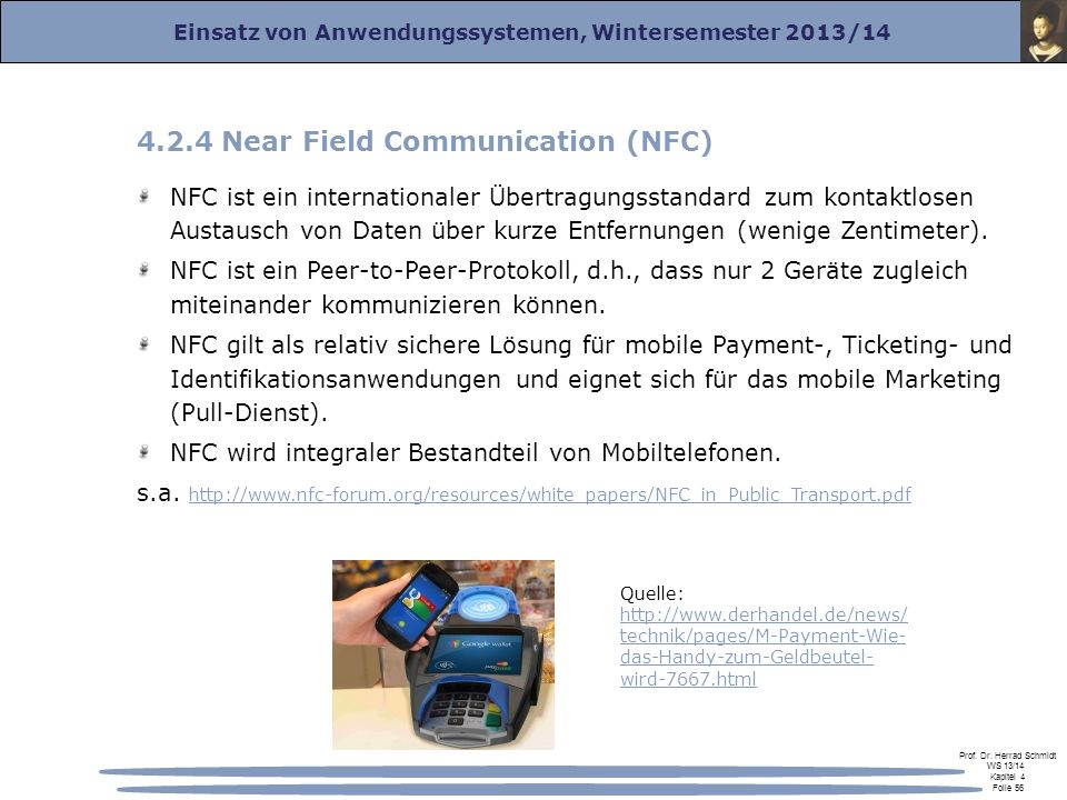 4.2.4 Near Field Communication (NFC)