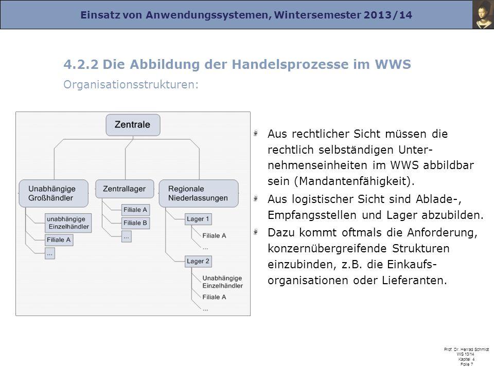 4.2.2 Die Abbildung der Handelsprozesse im WWS