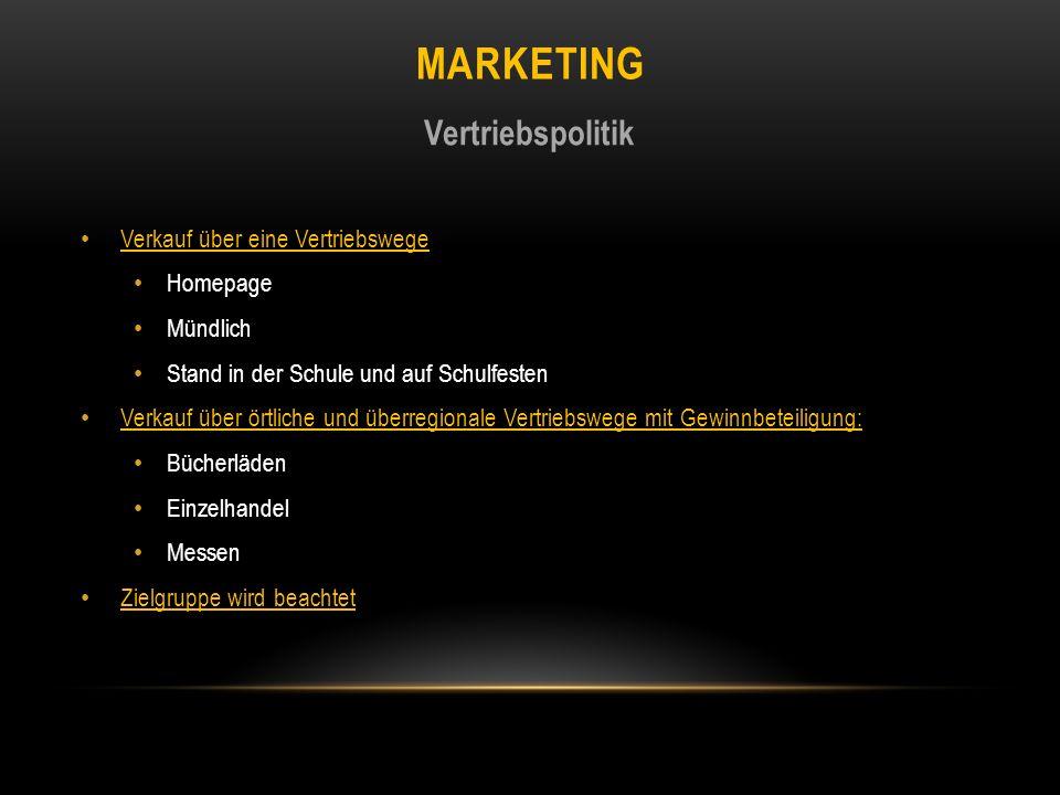 Marketing Vertriebspolitik Verkauf über eine Vertriebswege Homepage