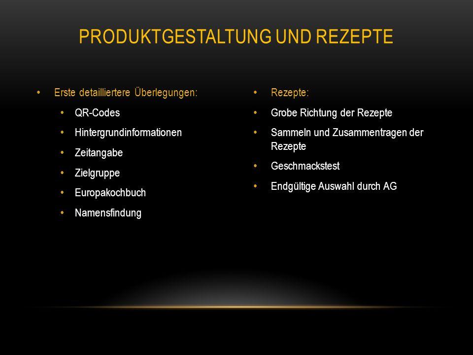 Produktgestaltung und Rezepte