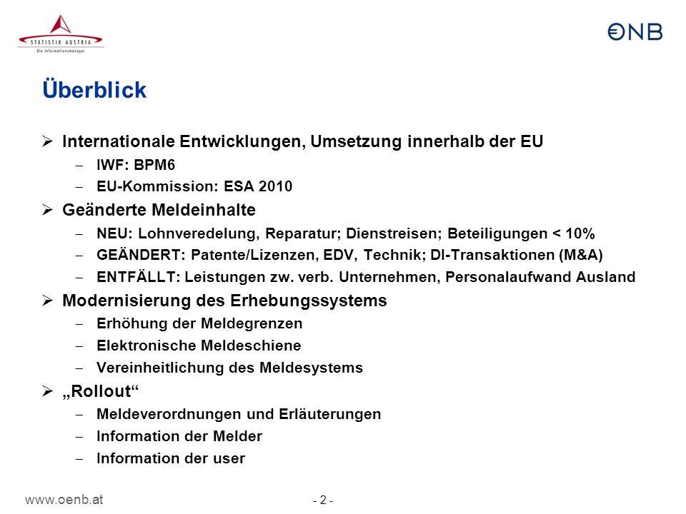 Überblick Internationale Entwicklungen, Umsetzung innerhalb der EU