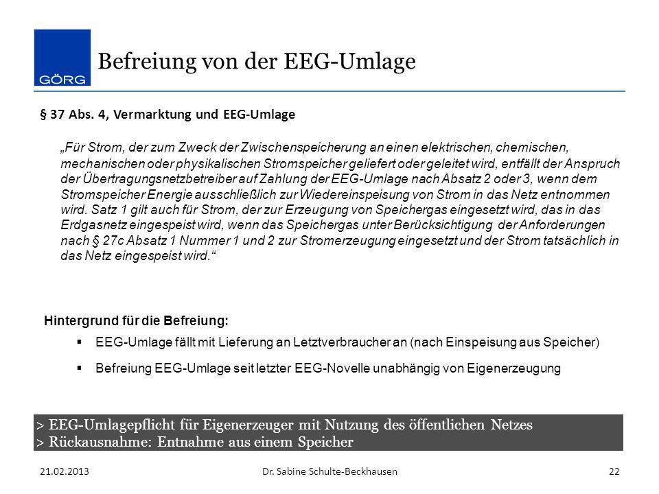 Befreiung von der EEG-Umlage