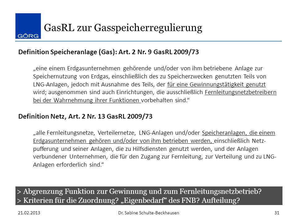 GasRL zur Gasspeicherregulierung