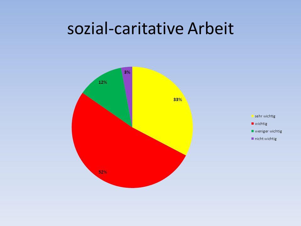 sozial-caritative Arbeit