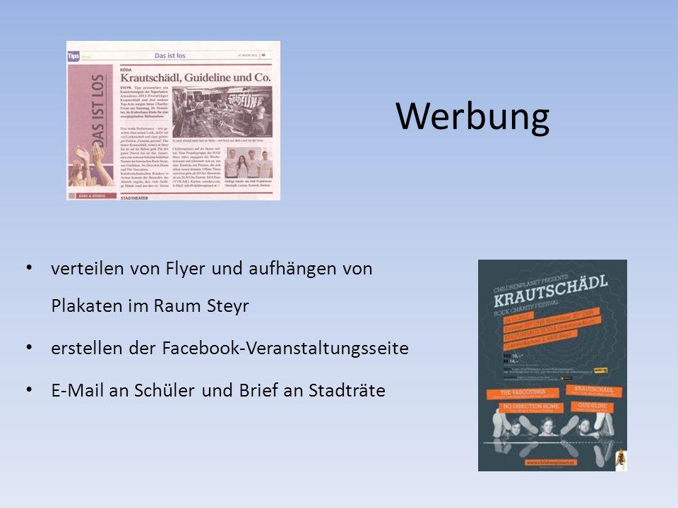 Werbung verteilen von Flyer und aufhängen von Plakaten im Raum Steyr