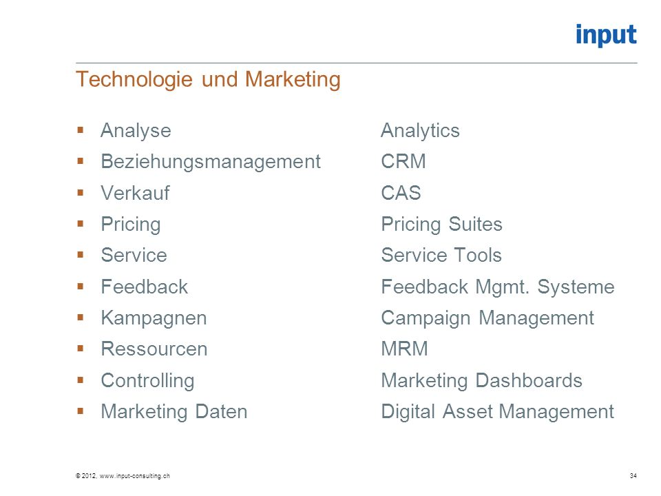 Technologie und Marketing