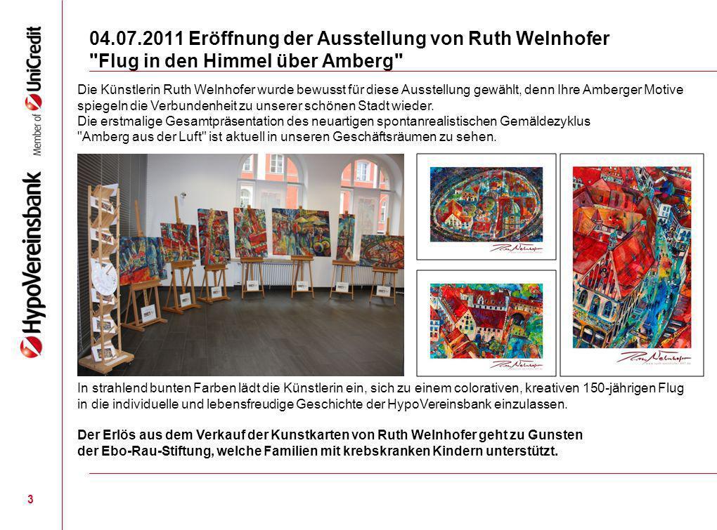 04.07.2011 Eröffnung der Ausstellung von Ruth Welnhofer Flug in den Himmel über Amberg