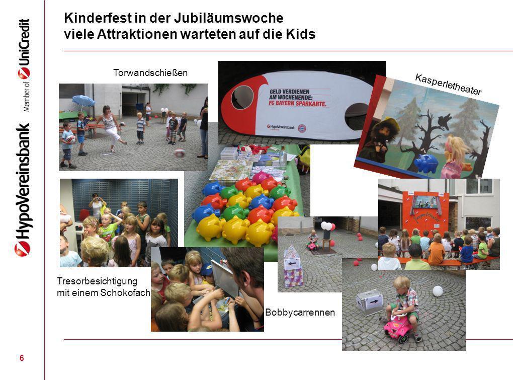 Kinderfest in der Jubiläumswoche viele Attraktionen warteten auf die Kids