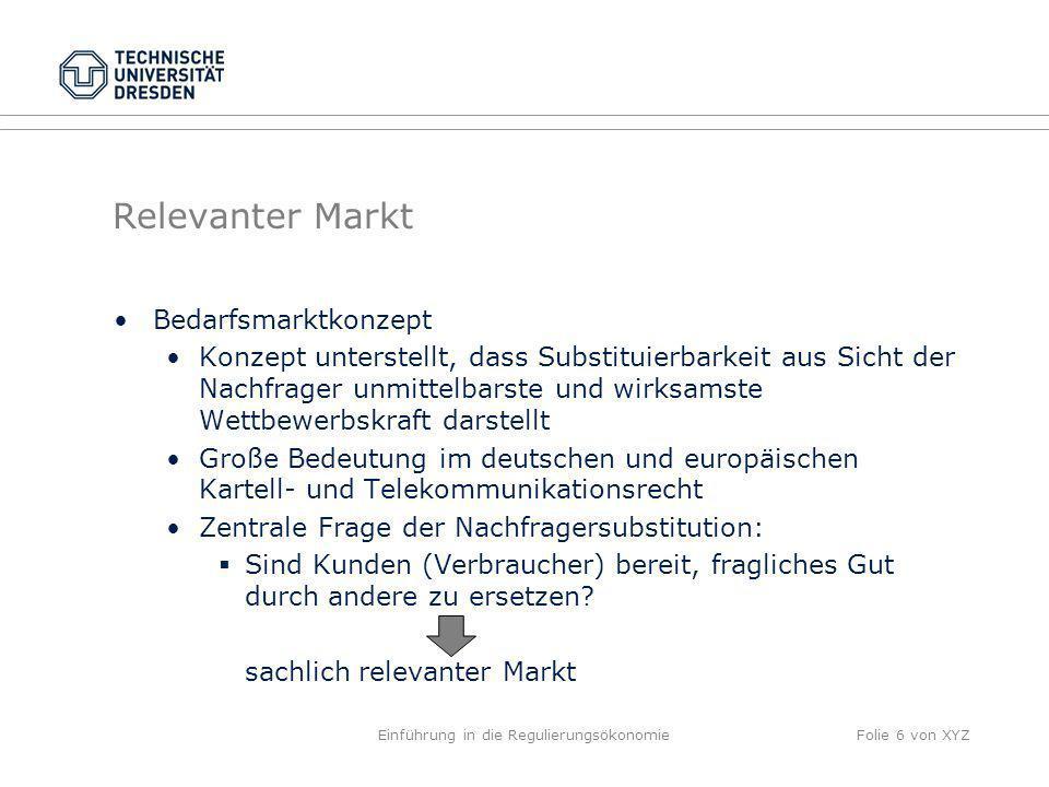 Einführung in die Regulierungsökonomie