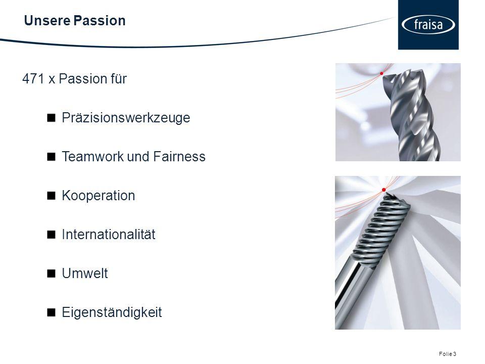 Unsere Passion 471 x Passion für. Präzisionswerkzeuge. Teamwork und Fairness. Kooperation. Internationalität.