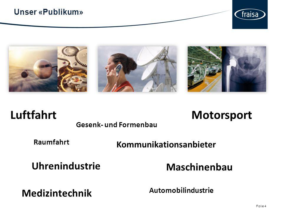 Luftfahrt Motorsport Uhrenindustrie Maschinenbau Medizintechnik