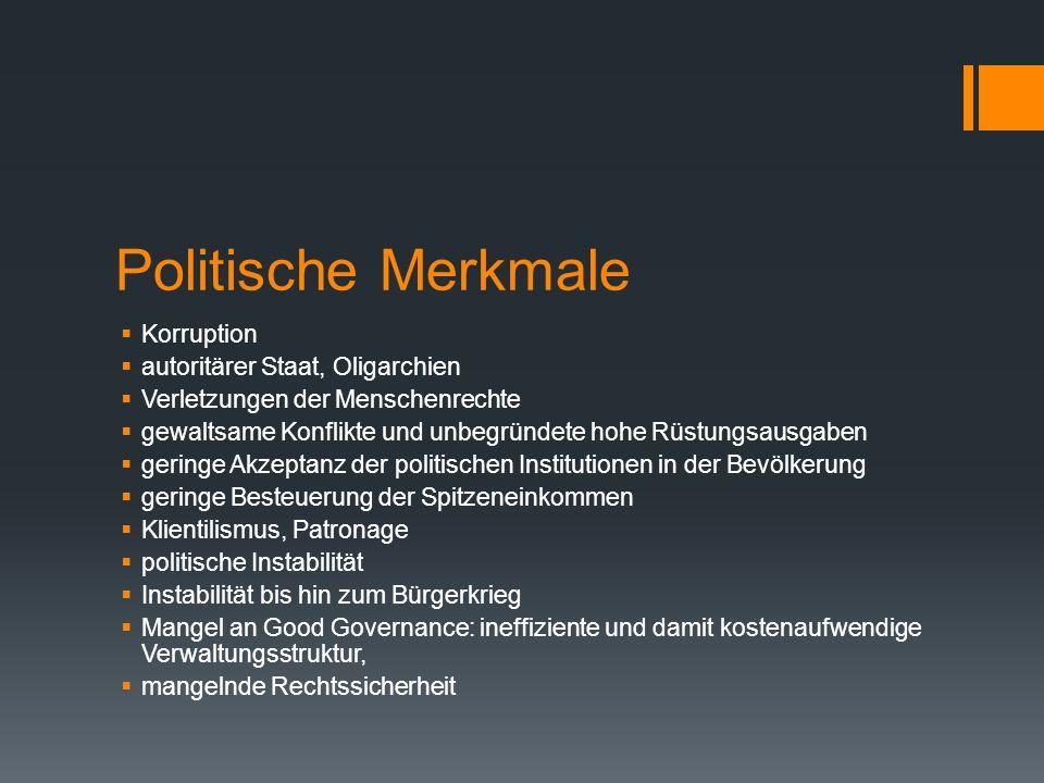 Politische Merkmale Korruption autoritärer Staat, Oligarchien