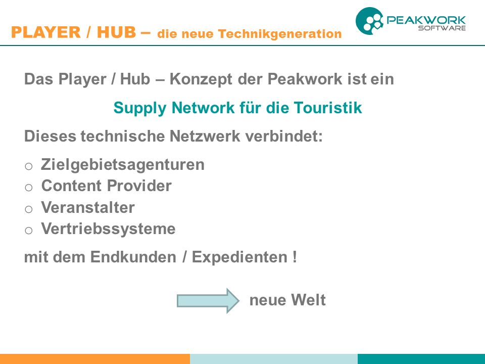 Supply Network für die Touristik