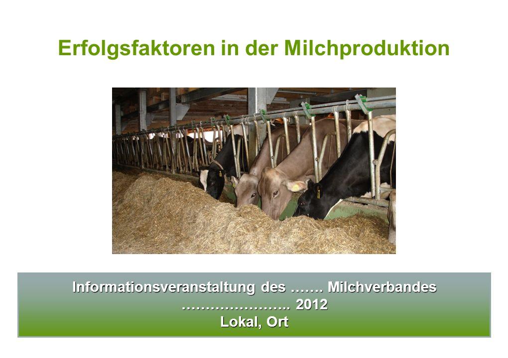 Erfolgsfaktoren in der Milchproduktion