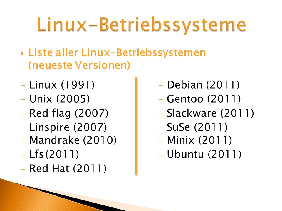 Linux-Betriebssysteme