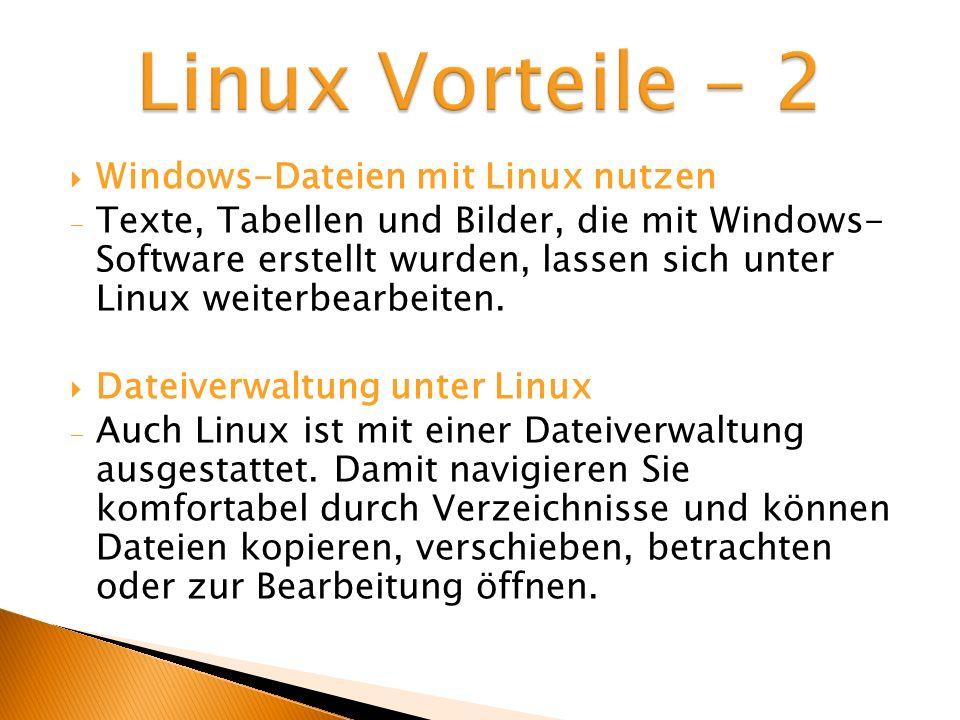 Linux Vorteile - 2 Windows-Dateien mit Linux nutzen