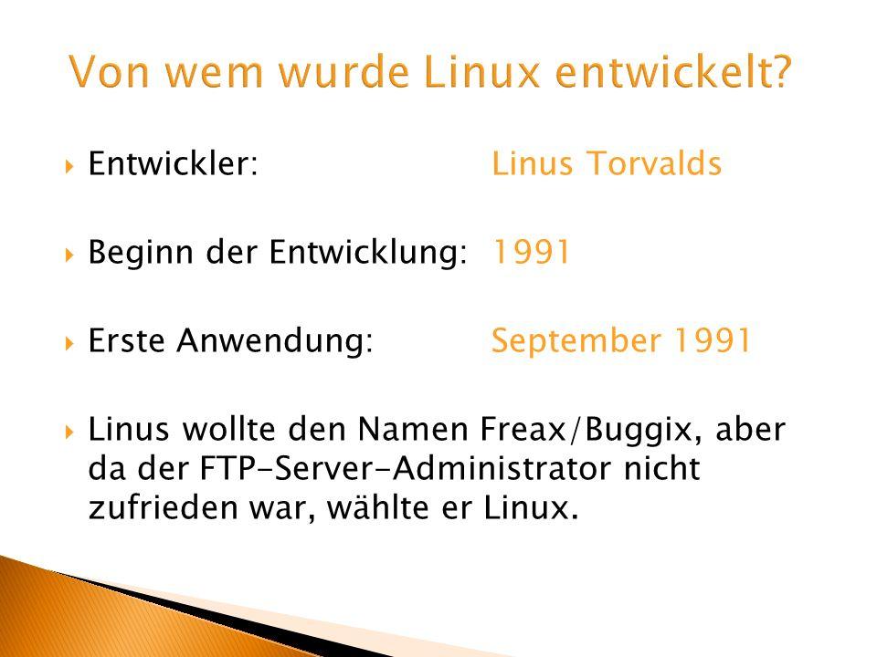 Von wem wurde Linux entwickelt