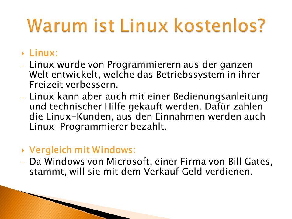 Warum ist Linux kostenlos