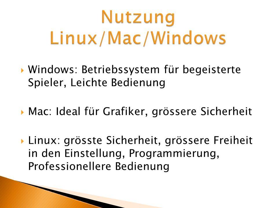 Nutzung Linux/Mac/Windows