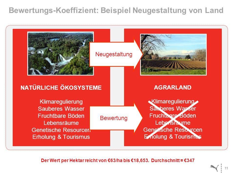 Bewertungs-Koeffizient: Beispiel Neugestaltung von Land