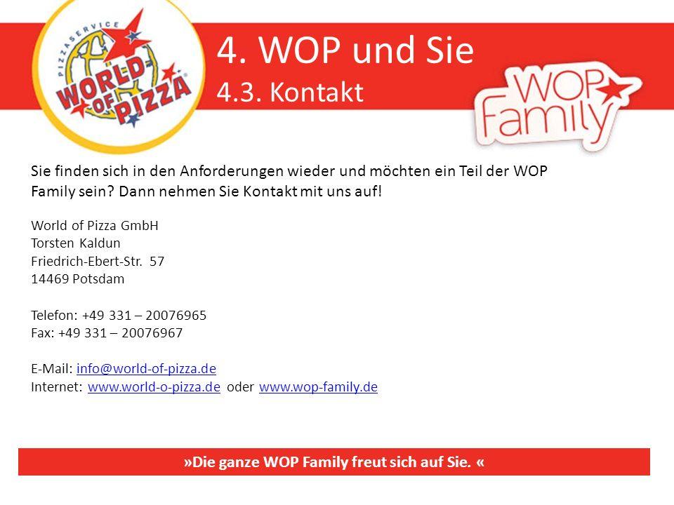 »Die ganze WOP Family freut sich auf Sie. «
