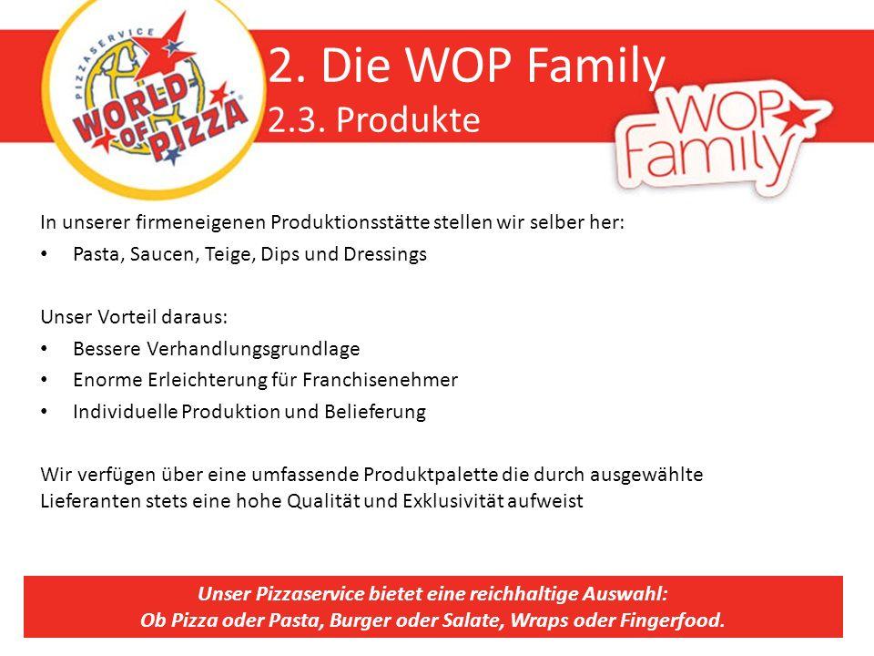 2. Die WOP Family 2.3. Produkte