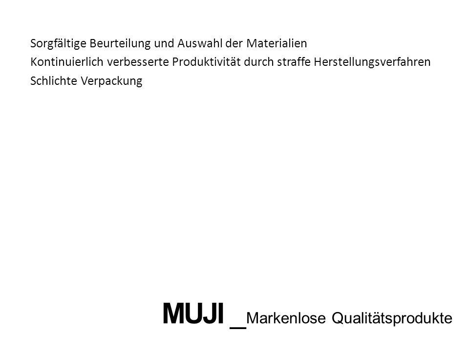 MUJI _Markenlose Qualitätsprodukte