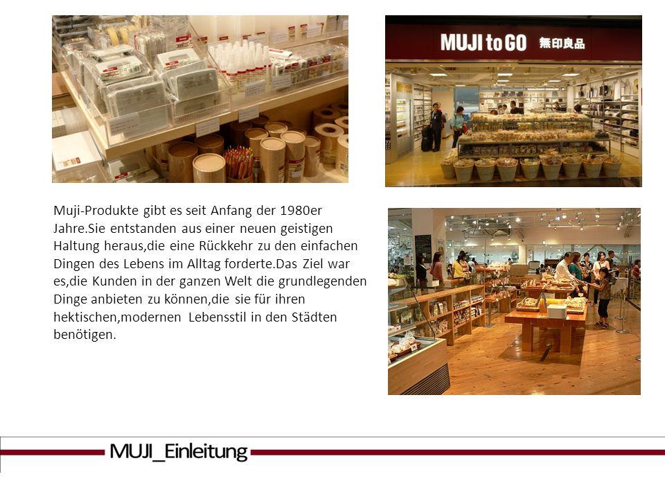 Muji-Produkte gibt es seit Anfang der 1980er Jahre