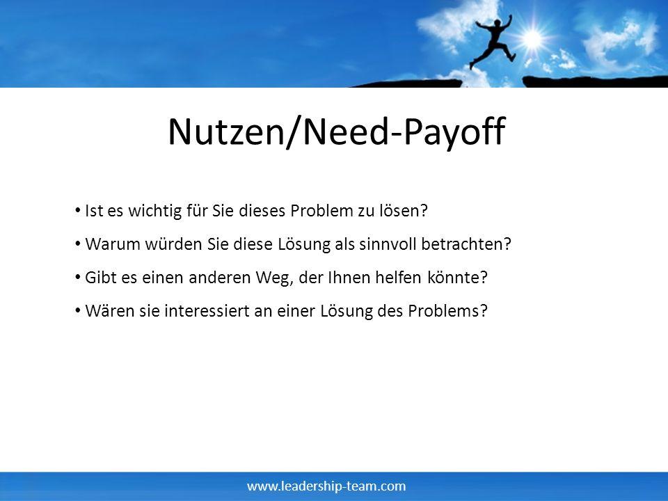 Nutzen/Need-Payoff Ist es wichtig für Sie dieses Problem zu lösen