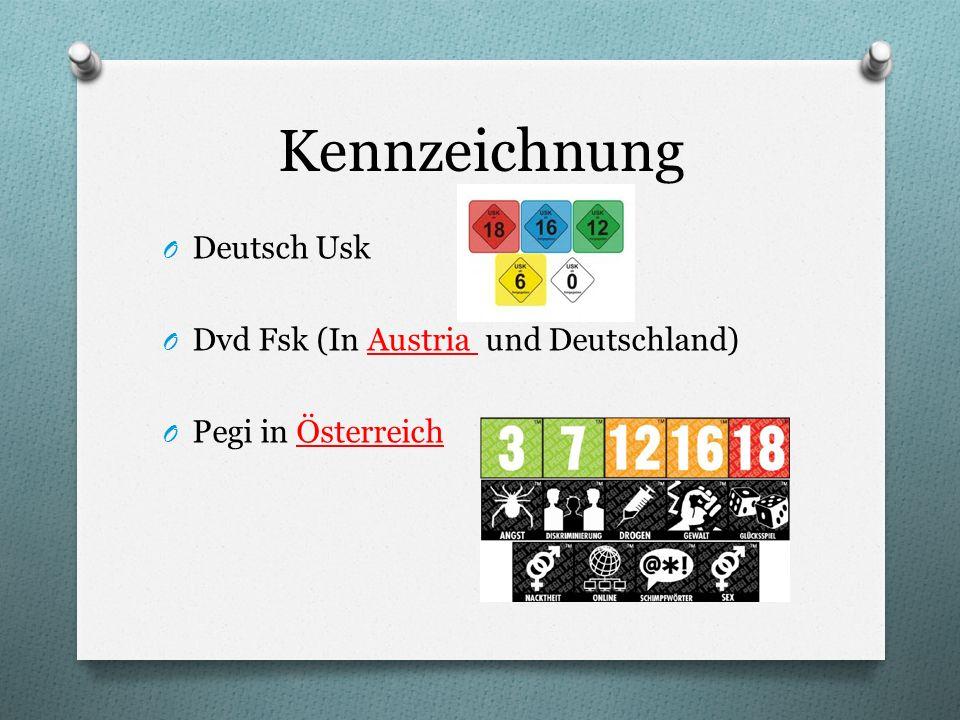 Kennzeichnung Deutsch Usk Dvd Fsk (In Austria und Deutschland)