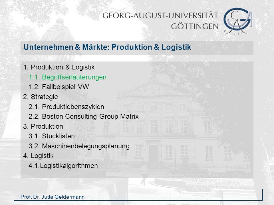 Unternehmen & Märkte: Produktion & Logistik