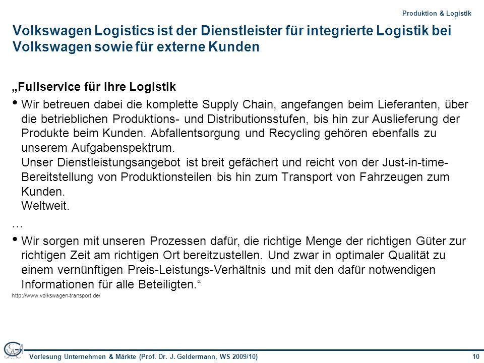 Volkswagen Logistics ist der Dienstleister für integrierte Logistik bei Volkswagen sowie für externe Kunden