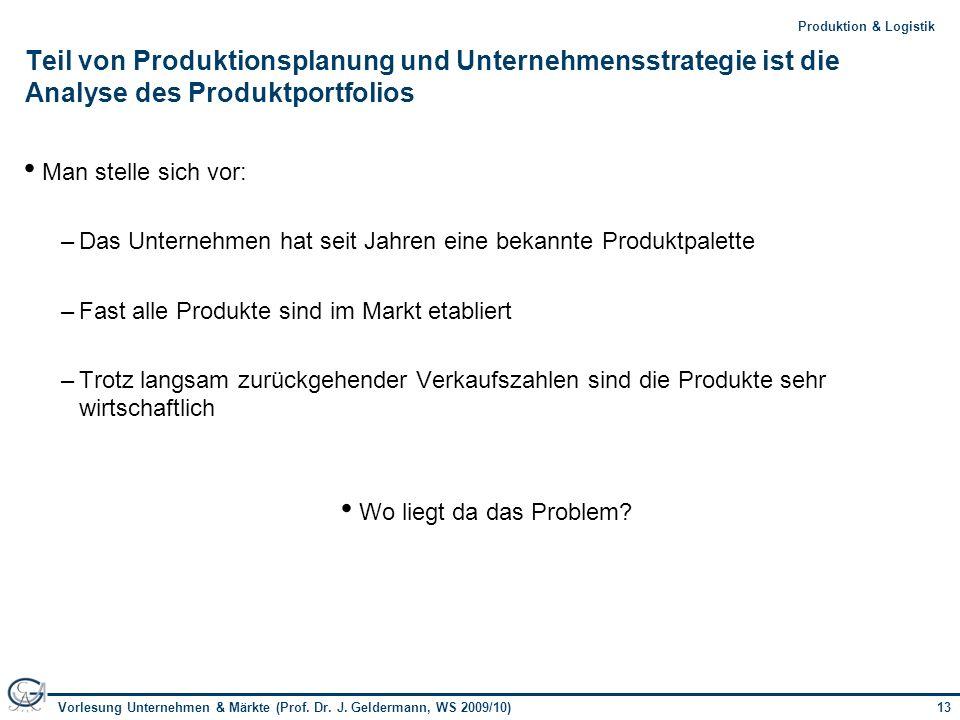 Teil von Produktionsplanung und Unternehmensstrategie ist die Analyse des Produktportfolios