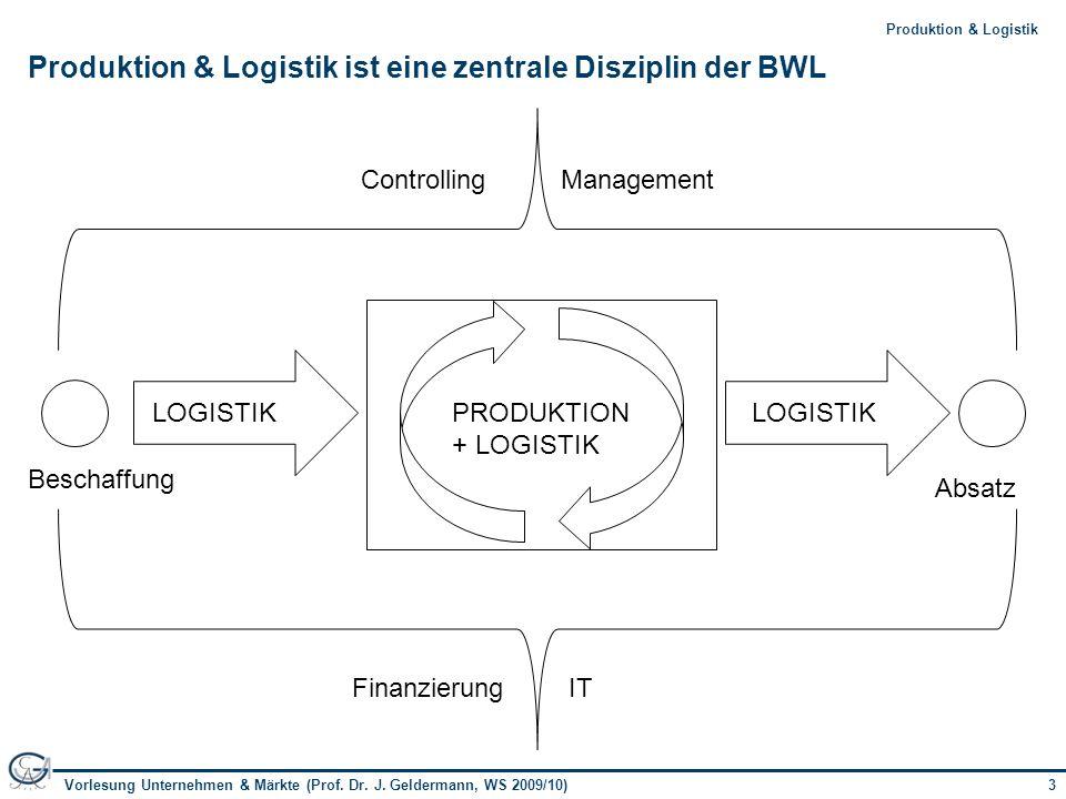 Produktion & Logistik ist eine zentrale Disziplin der BWL