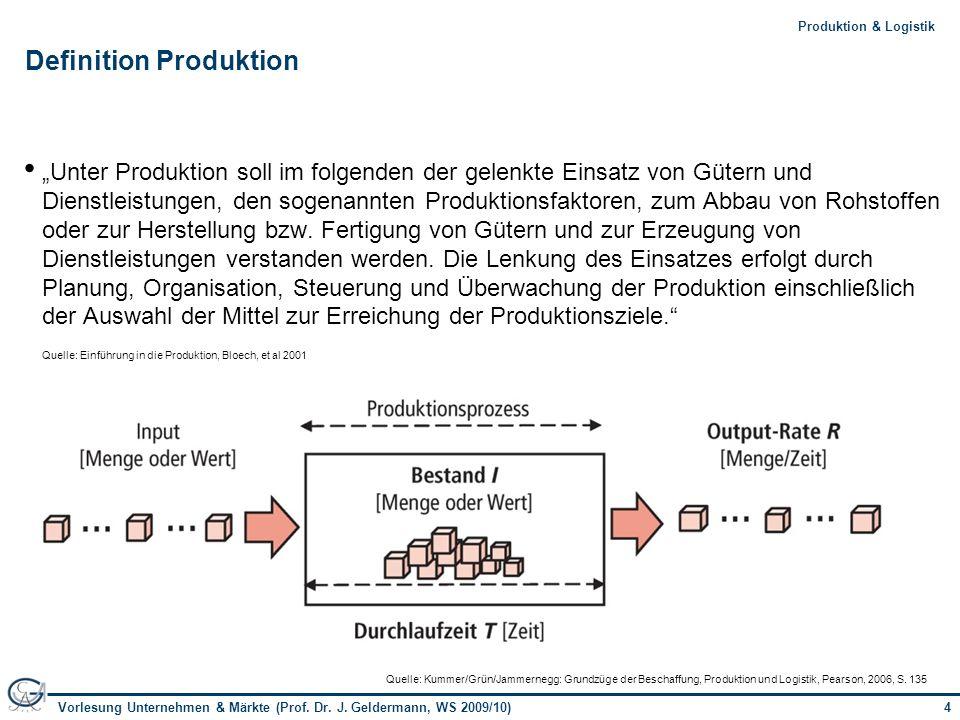 Definition Produktion