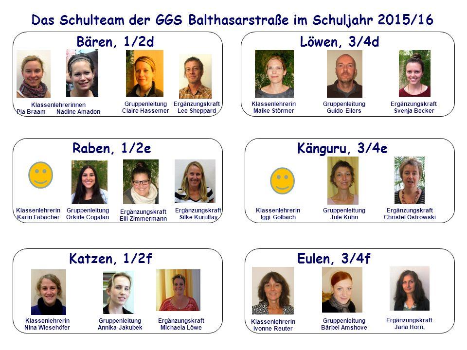 Das Schulteam der GGS Balthasarstraße im Schuljahr 2015/16