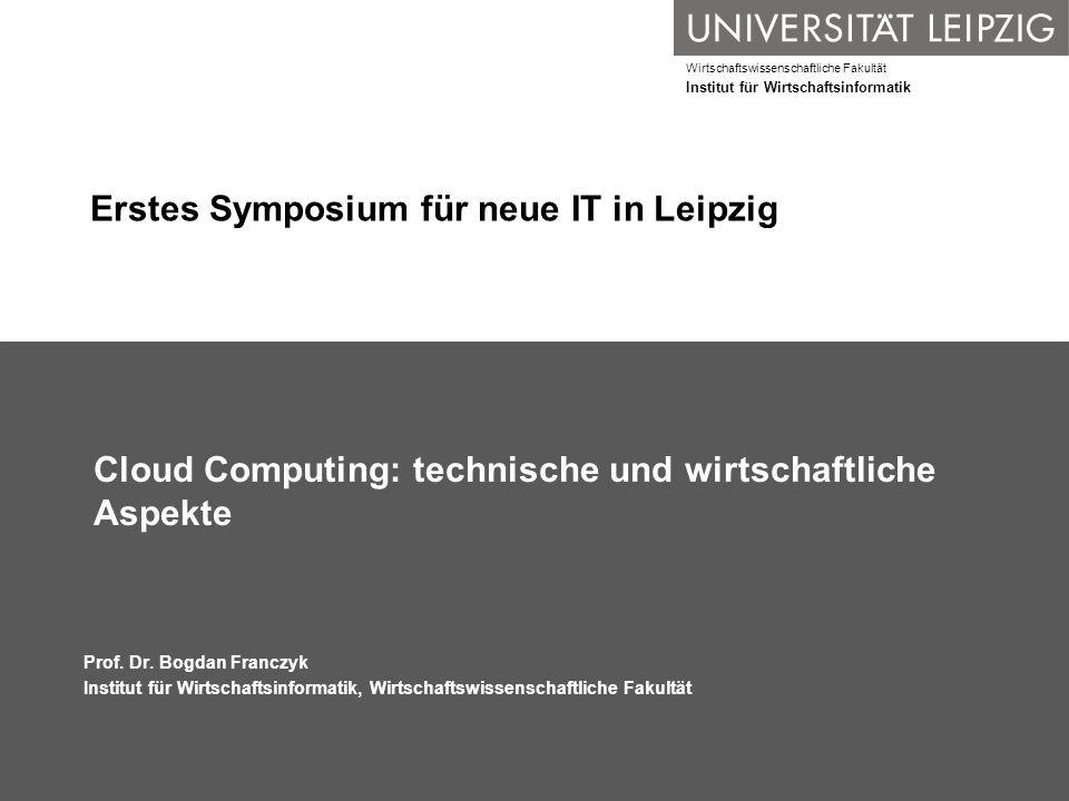 Erstes Symposium für neue IT in Leipzig