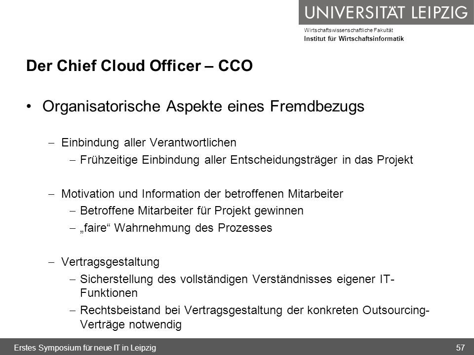 Der Chief Cloud Officer – CCO