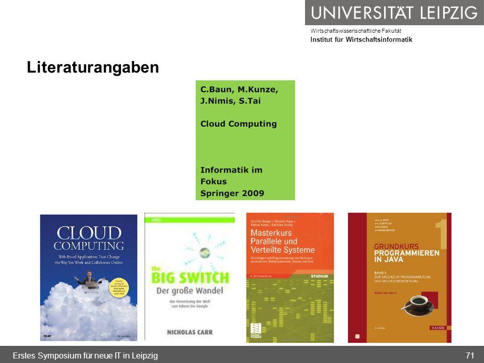 Literaturangaben Erstes Symposium für neue IT in Leipzig