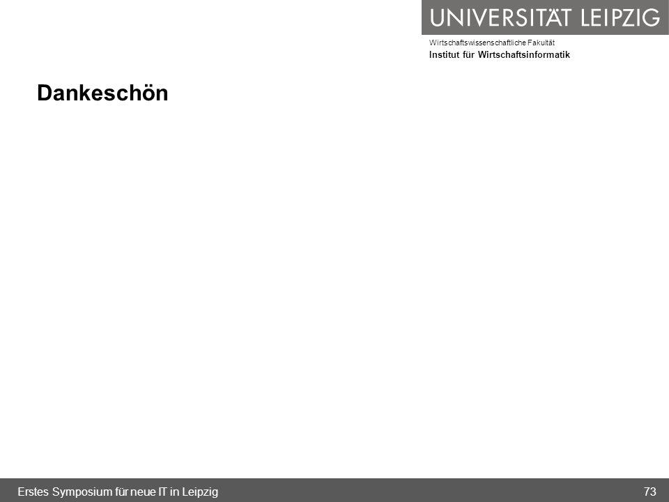 Dankeschön Erstes Symposium für neue IT in Leipzig