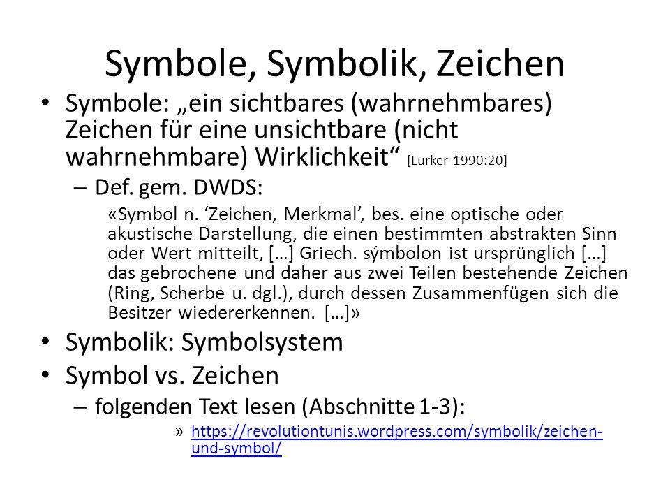 Symbole, Symbolik, Zeichen