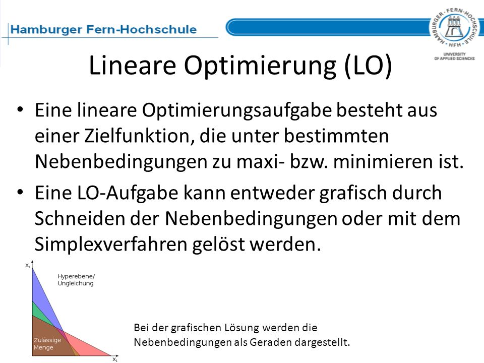 Lineare Optimierung (LO)