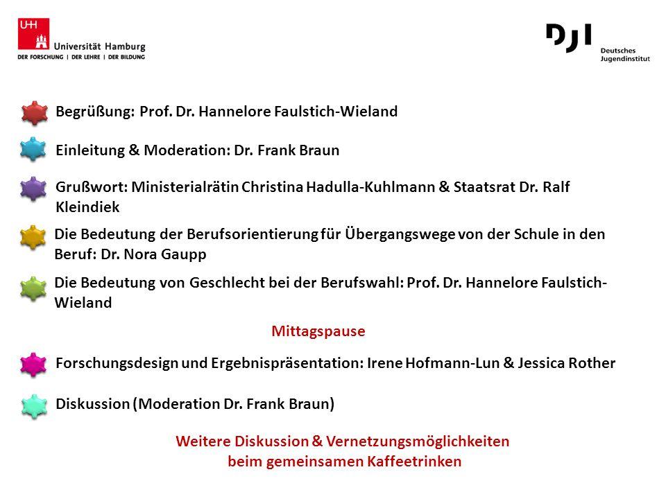 Begrüßung: Prof. Dr. Hannelore Faulstich-Wieland