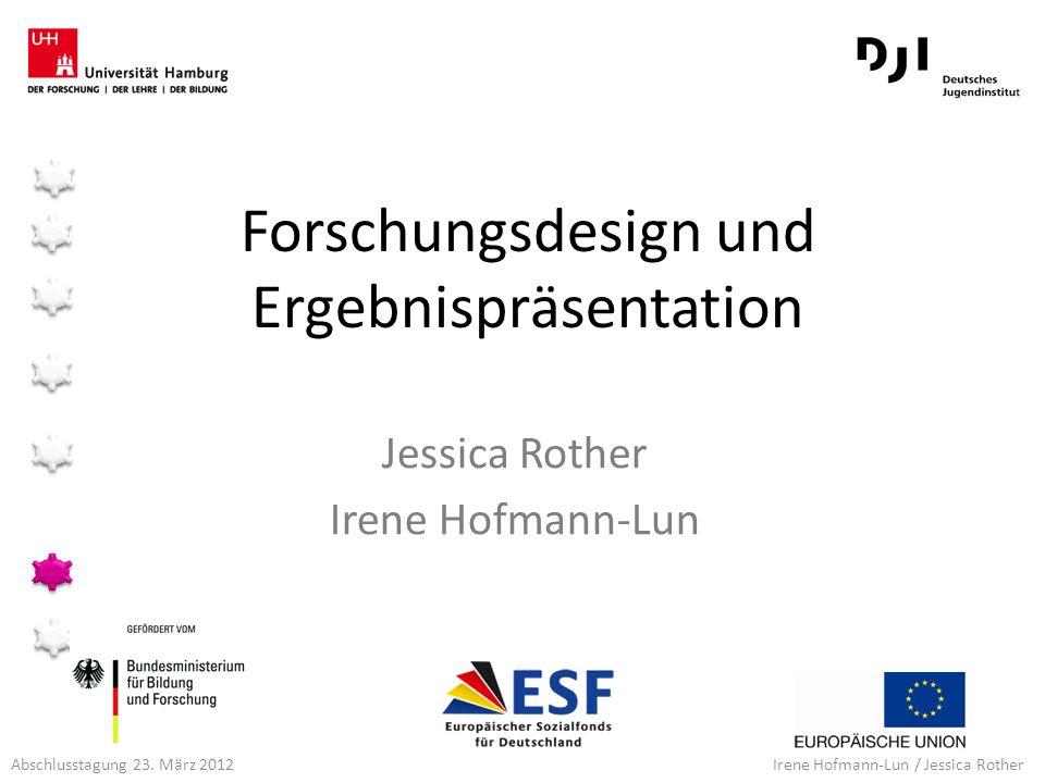 Forschungsdesign und Ergebnispräsentation