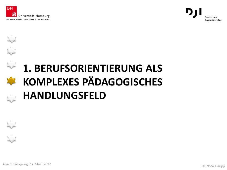 1. Berufsorientierung als komplexes pädagogisches Handlungsfeld