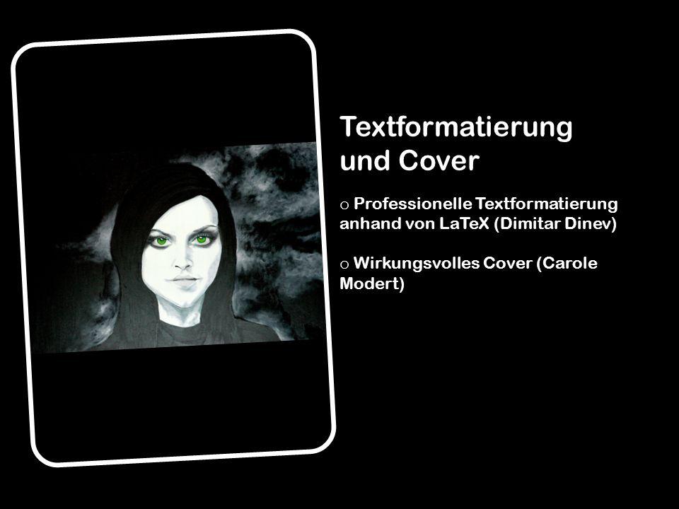 Textformatierung und Cover